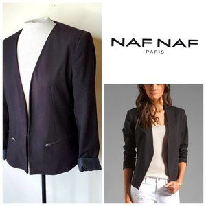NAF NAF PARIS Classic Black Lightweight Blazer